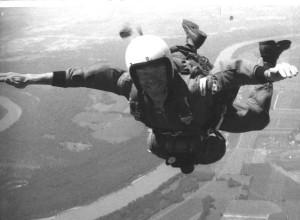 In freefall, 1964